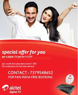 AIRTEL DIGITAL TV DTH SPECIAL OFFER-XSTREAM TATA SKY DISH D2H TATASKY