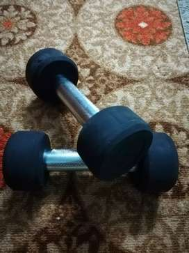 Rubber coated dumbell