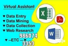 Data Entry Operators Day shift WPM 25