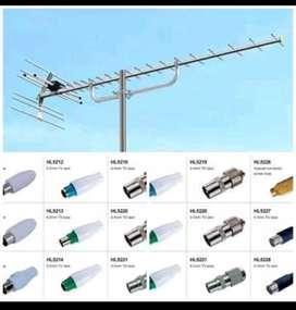 paket pilihan Anten tv digital gratis install gambar kinclong