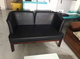 Urgent Sale- 2 chairs with center table & 2 seater sofa