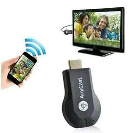 Anycast dongle monitor layar hp ke tv led