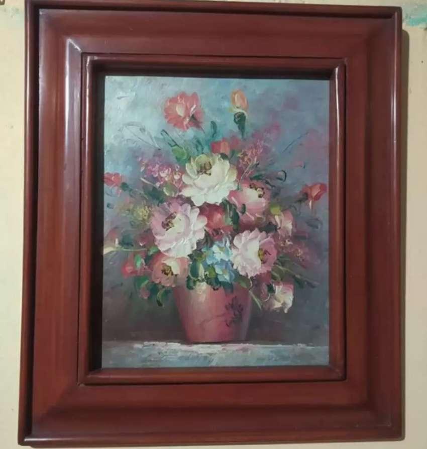 Lukisan bunga eropa lawas 0