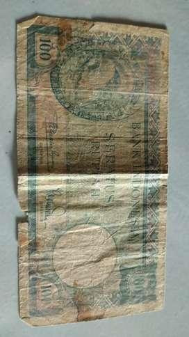 Uang 100 lama / antik / kuno