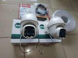Paket 4 CCTV Murah DAHUA Mix PTZ CCTV Full HD 2MP