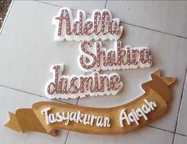 Dekor tulisan timbul Styrofoam