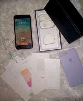 IPHONE 7+ PLUS JET BLACK 256 GB 100% ORI DARI IBOX
