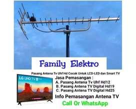 Pasang antena tv digital Bantar Gebang