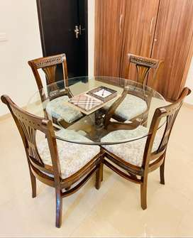 Wooden Dining table 4 seater(Price negotiable)