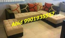 Unique design latest fabric corner sofa set 3 years warranty s 55