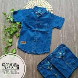 Kemeja Jeans anak (1-7 tahun)
