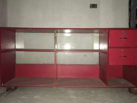 SHOPE ( 12x 12) Racking & Counter Full.  (Colour. Red).