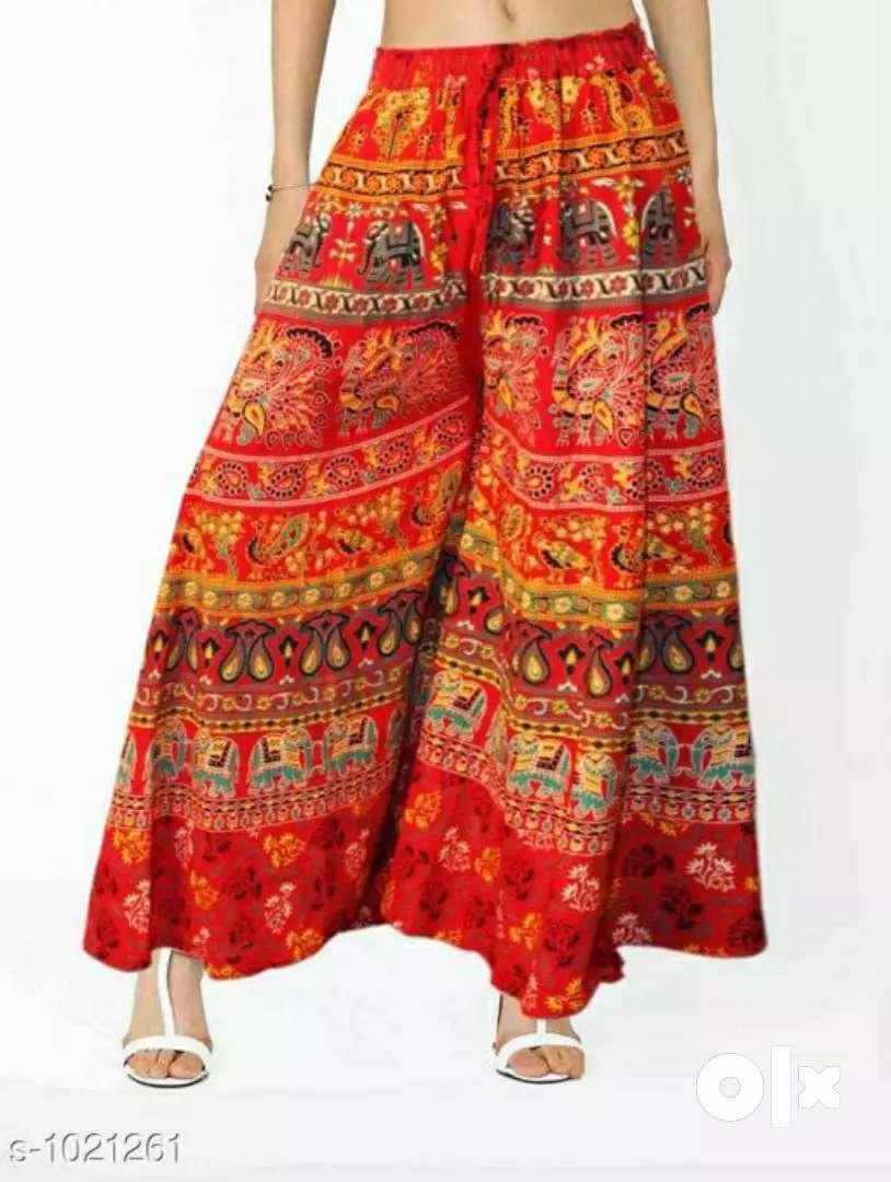 Jaipuri print cotton palazzos 0