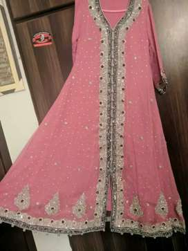 Tea pink formal maxi for engagement or nikkah function