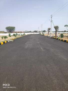 At Nandigama HMDA Residential plots for sale with Bank loan available