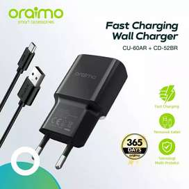 Charger Fast Charging IOS / Iphone / Android Oraimo Original
