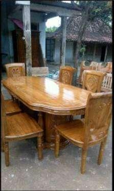 meja makan gendong jati