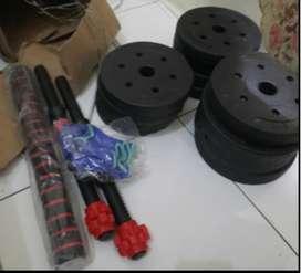 Paket Dumbell Multifungsi Total Beban 20 kg