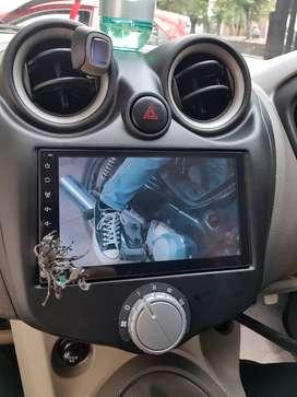 double din DVD full glass di mobil Datsun