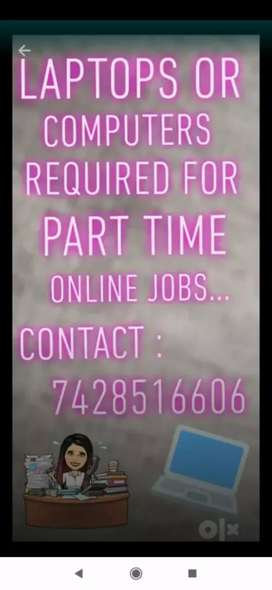 Online part time job offers with free data connections...