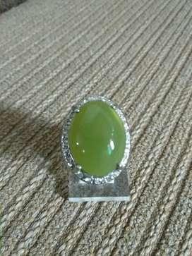 Cincin Batu Chalsedon Ijo