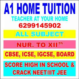 HOME TUTOR AT YOUR HOME ROOPEN AGARHARA AREA.
