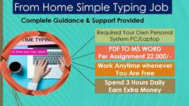 Data entry part time job apply in home business