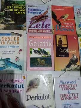 Aneka Buku ttg Ternak/pelihara Unggas & Hewan & ikan Hias