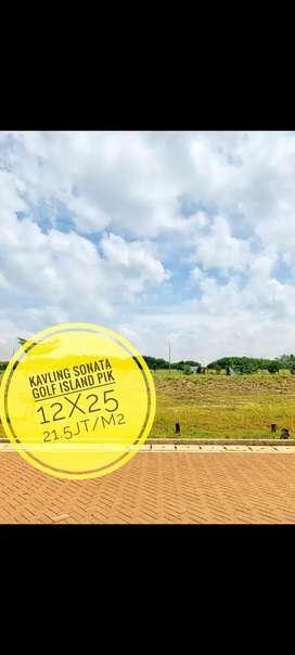Dijual 300meter kavling pantai maju 12x25 sonata lagoon