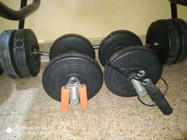 Dumbbell and barbell 20kg