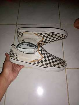 Sepatu Vans Slip On Checkerboard Original apa adanya sz 42
