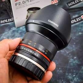 Lensa Samyang 12mm F2.0 for Sony E-mount. Fullset Like New