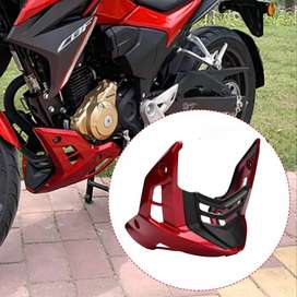 RED ENGINE MUD GUARD FOR HONDA CB150F WITH ACCESSORIES