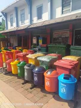 Tong sampah pilah 2 pilah 3 pilah 7 tong sampah roda wastafel portable