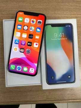 iPhone x 64gb silver ex garansi iBox original