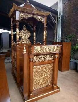mimbar masjid kubah mewah new