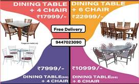92.  DINING TABLE | WOODEN | STEEL | METAL | TEAK | ACCASIA CHAIR TABL