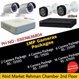 Cctv Hikvision & dahua Full HD cameras available in 2 years warrenty