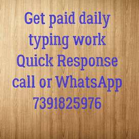 Earn money online by typing and works with weklypayments.