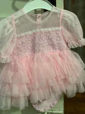 Baby girl beautiful party wear branded dresses rarely used