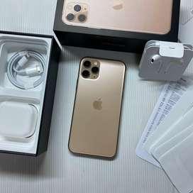 iPhone 11 Pro 256GB Gold Dual Nano Super Like new Pakai 2 minggu