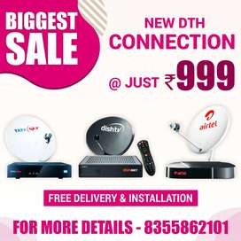 SALE New Tata Sky Airtel DishTV Connection Set top box + delivery