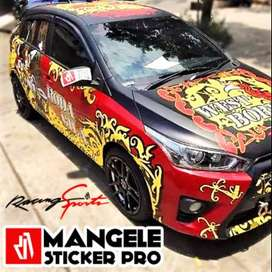 Desain Tribal Stiker Mobil Keren Mangele Premium Bandung