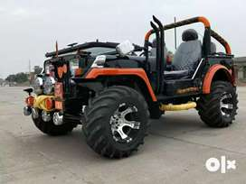 MAHINDRA JEEP (LOOK LIKE HUNTER TYPE BECAUSE OF TOO MUCH MODIFIED)
