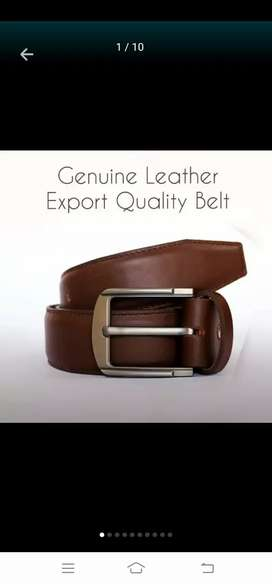 Brand new genuine leather belt at discount price