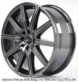 model ATHELETE DM309 HSR R17X7 H8X100-114,3 ET45 BLACK CHROME