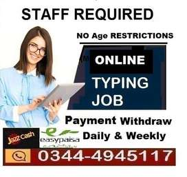 Home based typing online JOB  for Students