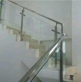 Dimas stel @6031 Reling tangga setanles kaca