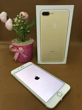 Iphone 7+ 256GB Gold Inter Fullset Mulus Terawat Istimewa
