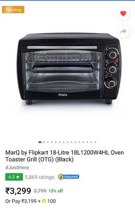 Marq Oven Toaster Grill 18 litres